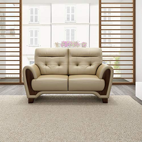 Durian Radiance Leather 2 Seater Sofa  Brown