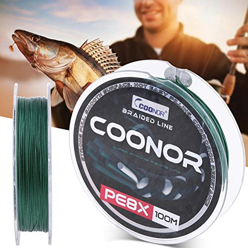 Dommy 100m/328ft Super Strong 8-Strand Braided Dark Green PE Fishing Line(0.4mm) ()