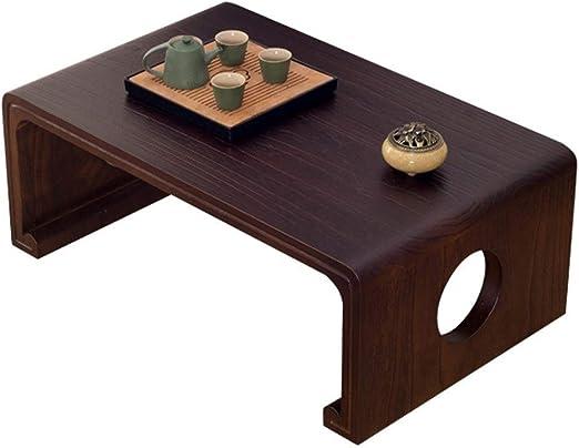 Mesas de café Mesita de Madera Maciza Mesa Japonesa con Ventana ...