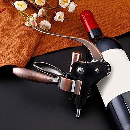 SNOWINSPRING Abridor de Vino de AleacióN de Zinc Profesional Sacacorchos de Conejo de Acero con Brazo de Palanca Herramienta de Abrebotellas de Vino Corcho