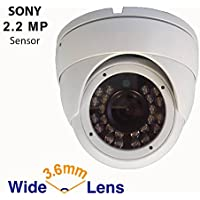 Gawker 1080P Full HD 4 in 1 TVI/AHD/CVI/CVBS output Sony Sensor Turret Dome CCTV camera, IP66 Weather proof, 3.6mm lens, IR Smart, White color metal case, DC12V.