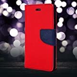 First 4 Luxury Mercury Diary Wallet Style Flip Cover Case For Micromax Canvas Fire 3 A096- Red