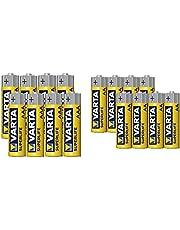 Varta Superlife Zinc Carbon Battery Set, 1.5 Volts, Size AA and AAA - 16 Batteries