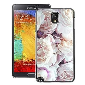 A-type Arte & diseño plástico duro Fundas Cover Cubre Hard Case Cover para Samsung Note 3 N9000 (Roses Bouquet Decoration Design)