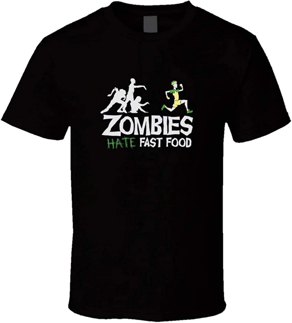Nate Riordan Zombies Hate Fast Food t-Shirt Walking Dead - Funny Run Food Run!