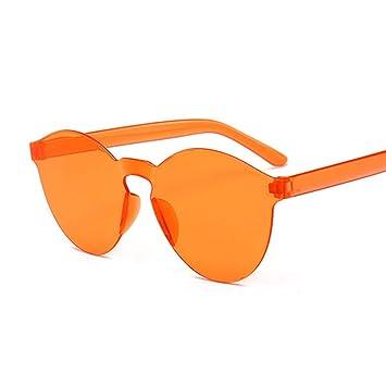 Kjwsbb Sin Montura, Gafas de Sol de Espejo Redondo ...