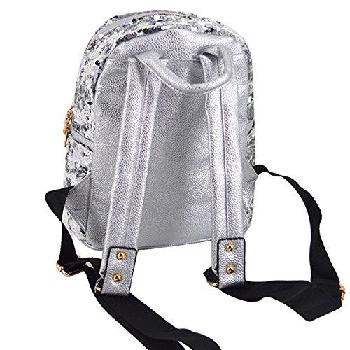 Meliya - Bolso mochila  para mujer, plata (plateado) - FS-bb-01280-02YA plata