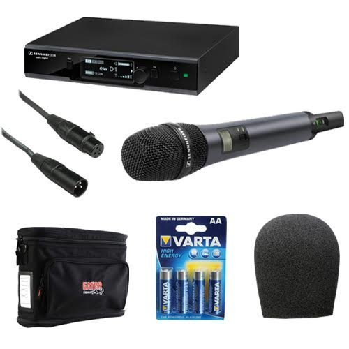 Sennheiser EW D1-845S Evolution Wireless D1 Digital Vocal System with Handheld Microphone E845 Dynamic Super-Cardioid Capsule Plus Wireless Microphone Accessory Kit ()