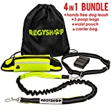 All right, check out this bad boy Hands-free dog leash, Adjustable waist belt, Carrier bag AAAND 3 poop bags rolls. What are you going to use it for? Well, isn't it a bit obvious?  FUN AND STUFF.  Hands-free dog leash & waist belt  is mad...