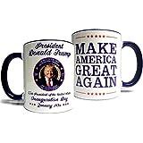 Donald Trump Inauguration Mug - Make America Great Again - Quality Grade A Made in USA Ceramic 11oz Mug/Cup - Perfect Gift