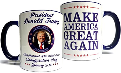Donald Trump Inauguration Mug - Make America Great Again - Quality Grade A Ceramic 11oz Mug/Cup - Foam Box Protection (Perfect Gift)