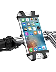 UGREEN Bike Phone Mount Bicycle Holder 4 To 6.2 Inch Phone Screen Compatible For Iphone 11 Pro Xs Max Xr X 10 8 7 6 Plus Samsung Galaxy S10 S10E S9 S8 Plus S7 Lg G5 G6 Google Pixel Black