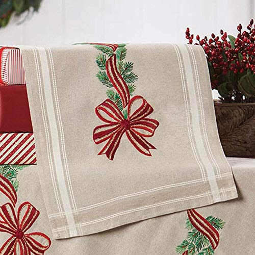 (Herrschners® Pine Bows Table Runner Stamped Embroidery Kit )