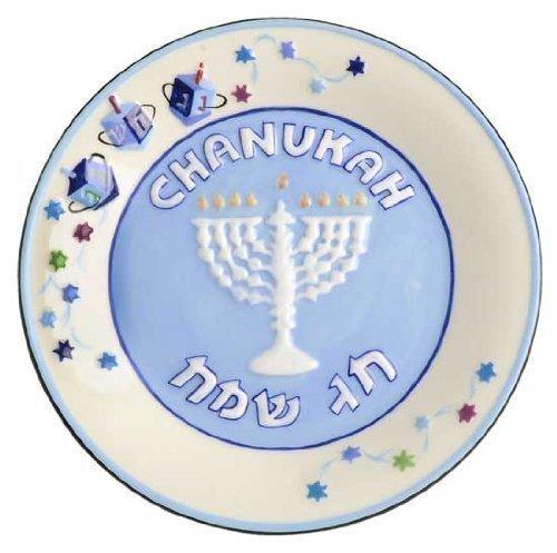 Ceramic Set of 4 Hanukkah Snack Plates