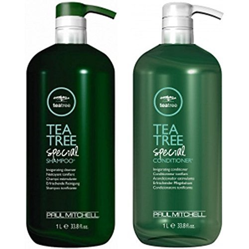 Paul Mitchell Tea Tree Shampoo & Conditioner (33.8 oz) Liter