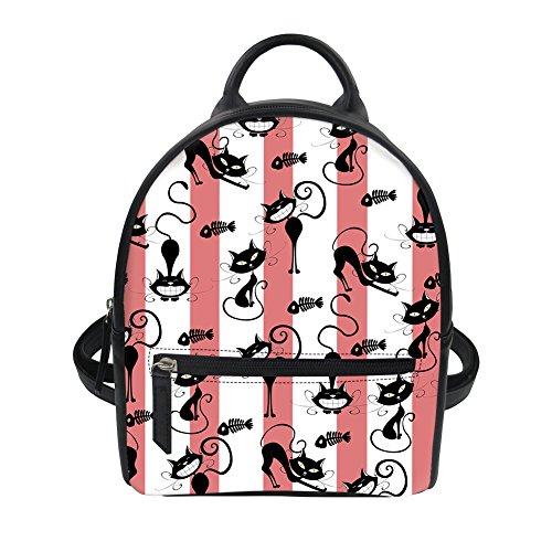 Imprimé dos Voyage école Animal à Floral pour Sac Mini Fille Multicolor 9 Cartoon femme mignon sac PU ThiKin cuir x8RwEqY0x
