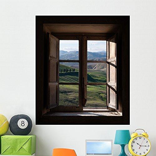 Landscape Trough Window Wall Mural by Wallmonkeys Peel and Stick