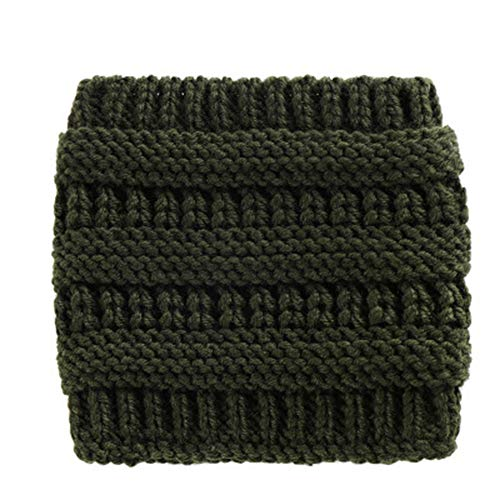 ail Beanie Hat Winter Skull Beanies Warm Cap Crochet Ear Warmer Headwrap Soft Hats Xmas Gift Army Green ()