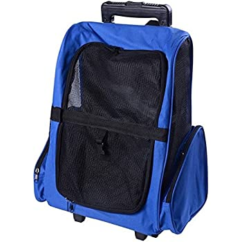 Amazon.com : OxGord Rolling Backpack Travel Pet Carrier for Cats ...