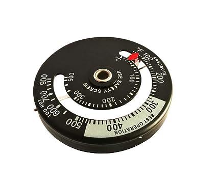 Quemador de madera y estufa termómetro magnético para uso en superficie de estufa y tubería de
