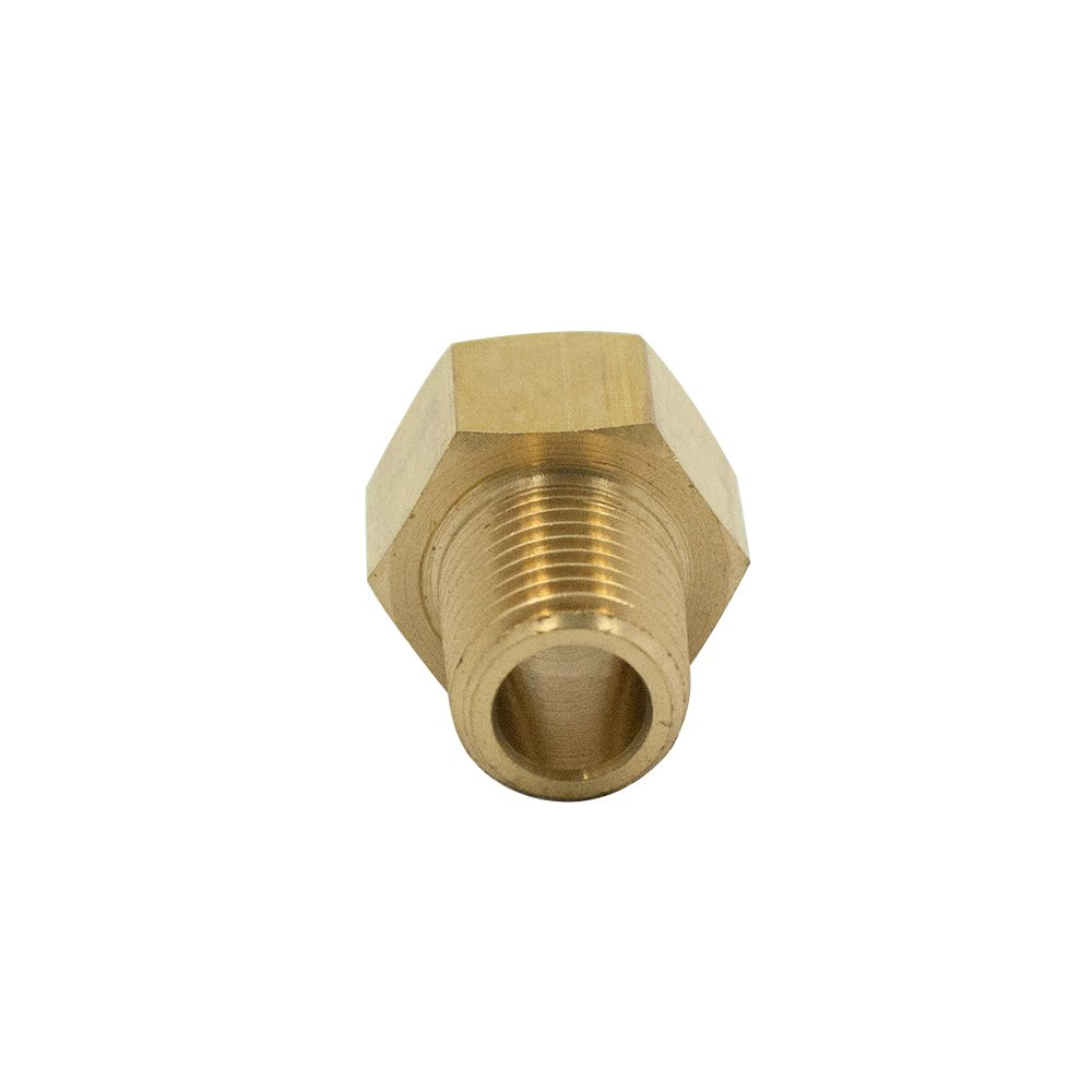 Pack of 1 Vis Brass Inverted Flare Fitting 1//2 Tube OD x 1//2 NPT Male Adapter