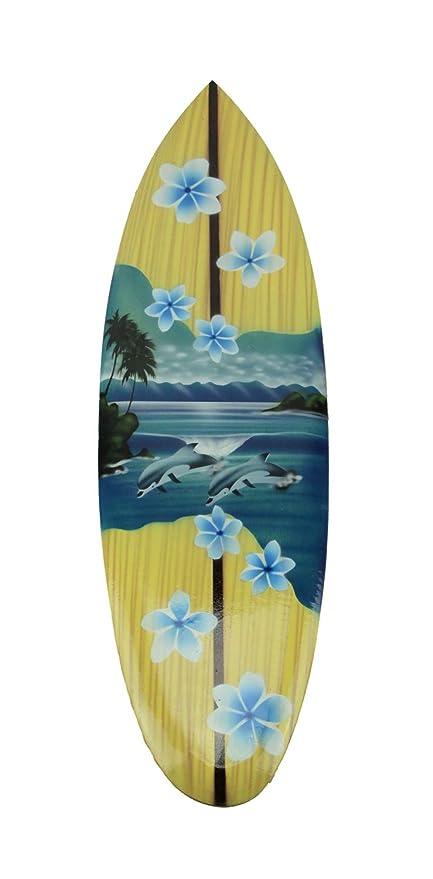 Esculturas de pared de madera Tropical aire cepillado Mini de madera Tabla de surf colgante de