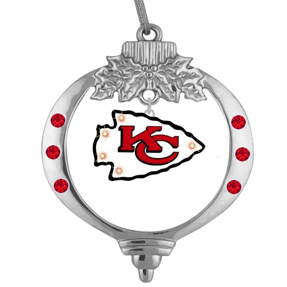 Final Touch Gifts Kansas City Chiefs Flashing Christmas Ornament