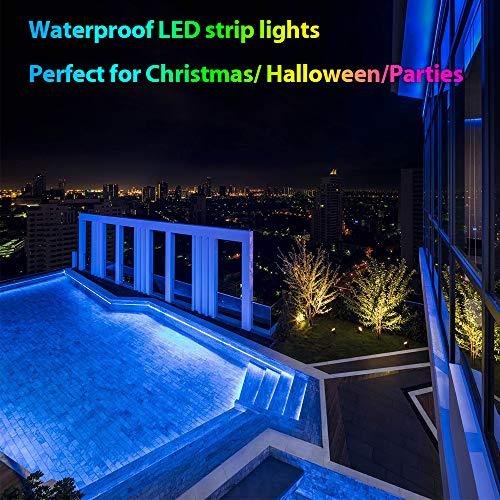 Led Lights Strip, Waterproof 6.56ft 2m 5050 RGB LED Strips, Flexible Color Changing Strip Lights with 24 Keys IR Remote for Home, Camping, Bedroom, Car, Golf cart, DIY Decoration