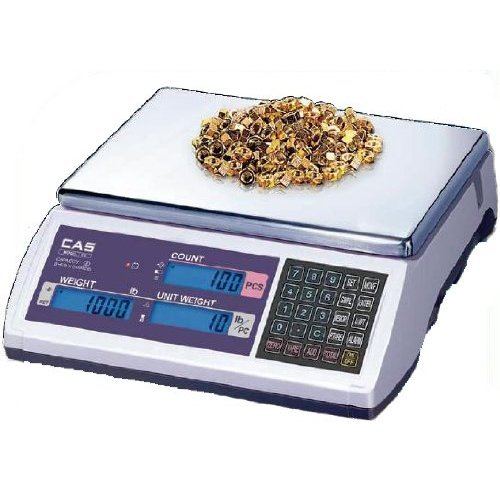 - CAS EC-60 EC Series High Accuracy Counting Scale, 60lb Capacity, 0.002lb Readability