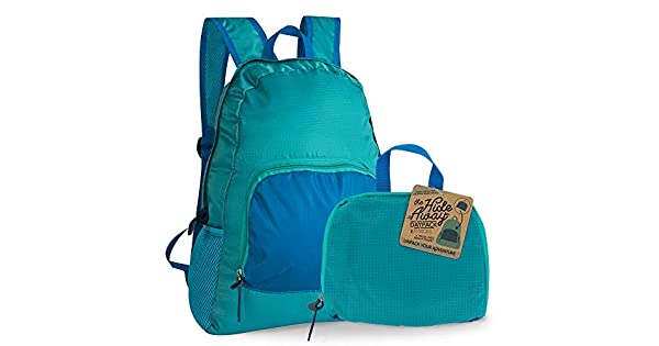The Hideaway Active Lifestyle Daypack by FITKICKS Everyday Foldable Packable Backpack