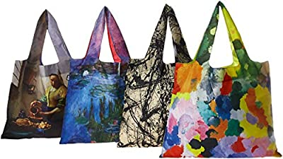 LOQI Museum Reusable Grocery Bag, Multicolor