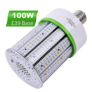 100W Led Corn Light Bulb, 14000LM(400W-600W Equivalent) ,5000K Daylight, Large Mogul Base E39 Led Bulbs, Replacement for Factory Garage Warehouse Workshop Bay Lighting
