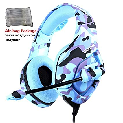 Amazoncom Headphoneheadset K1 Camouflage Ps4 Headset Bass