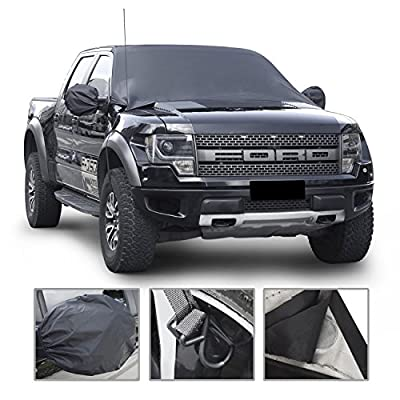 """Car Windshield Snow Cover By Mak Tools,Extra Large Size for Most Vehicle,72""""x57""""With Mirror Snow Covers"""