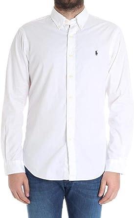 Ralph Lauren Hombre 710695886009 Blanco Algodon Camisa ...
