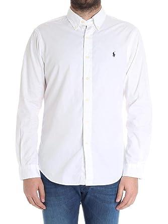 Ralph Lauren Hombre 710695886009 Blanco Algodon Camisa: Amazon.es ...
