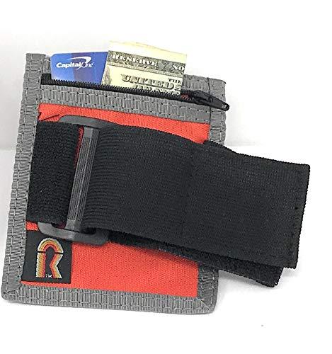 Armband Nylon Adjustable ID/Badge Holder w/Zipper Pouch. Medium. Made in -