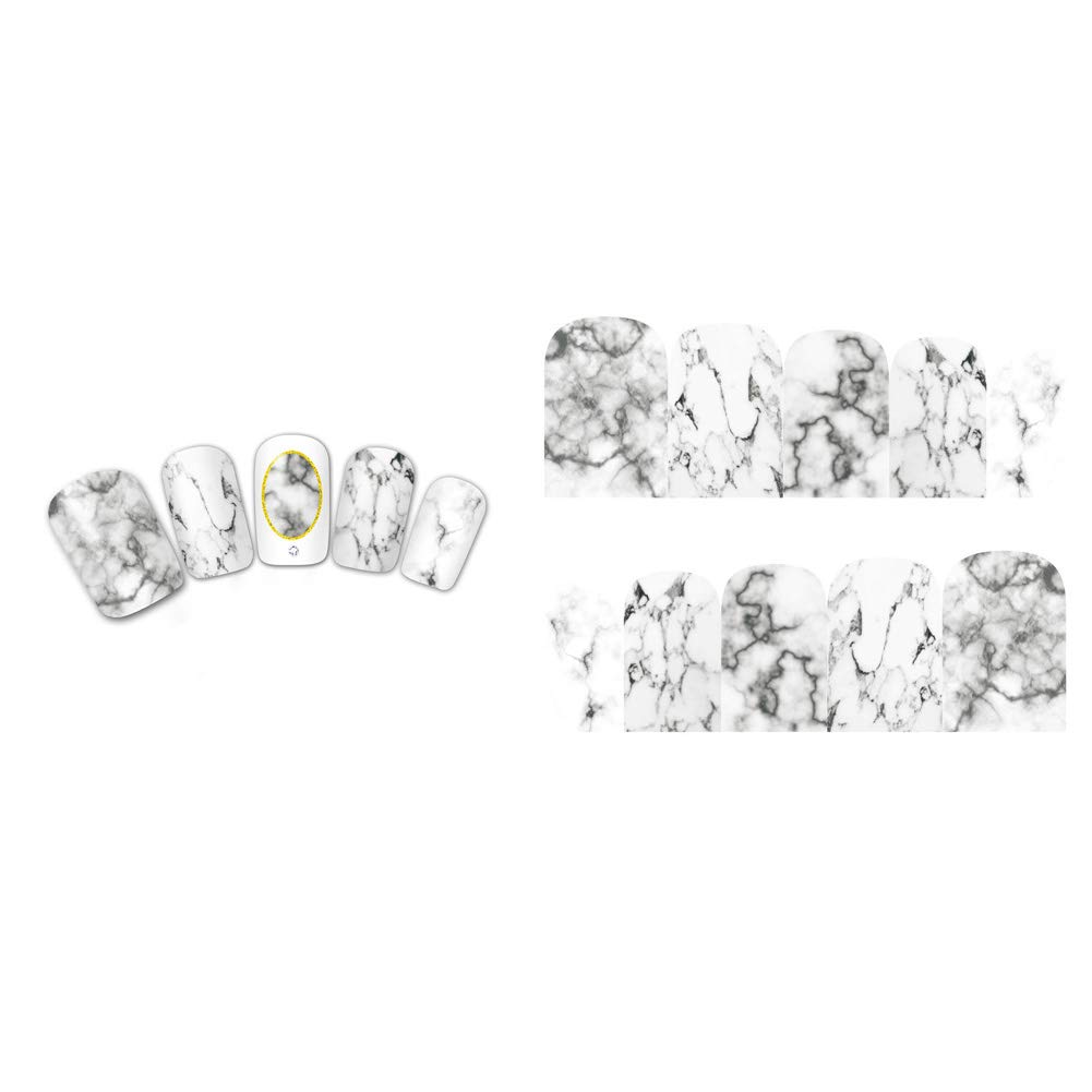 Amazon.com: Marble Nail Wraps, Manicure DIY Nail Art Water Decals Self-adhesive Nail Sticker Full Coverage Nail Art Stickers: Beauty