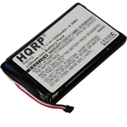 HQRP 1200mAh Battery for GARMIN NUVI 2405 2415 2415LM 2415LT 2445 2445LM 2445LMT 2445LT 2475LT 2495 2495LT 2495LMT 2555 2555LMT 2555LT 2595 2595LMT 190-01355-01 190-01355-50 GPS Navigator + Coaster by HQRP