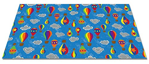 Price comparison product image Kid Carpet FE800-76Y Up and Away Nylon Area Rug,  12' x 15',  Multicolored