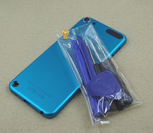 Blue Color Metal Back Rear Housing Case Cover Backplate Shell Repair Replacement for Ipod Touch 5th Gen 32gb 64gb
