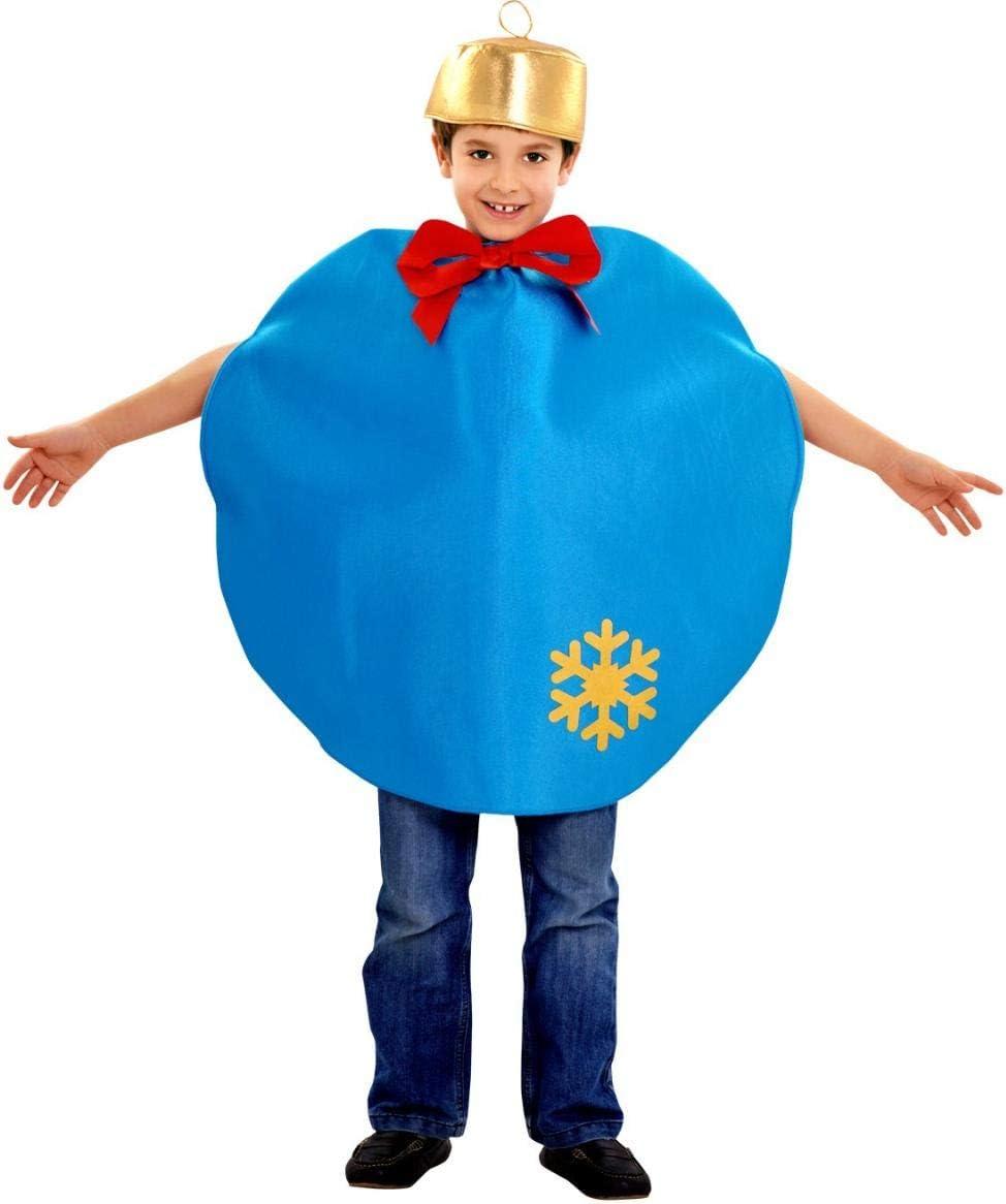Disfraz de bola de Navidad - Color - Azul, Talla - 7-9 años