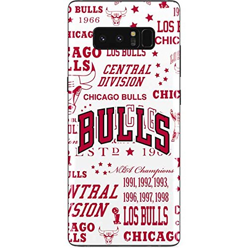(Skinit Chicago Bulls Historic Blast Galaxy Note 8 Skin - Officially Licensed NBA Phone Decal - Ultra Thin, Lightweight Vinyl Decal Protection)