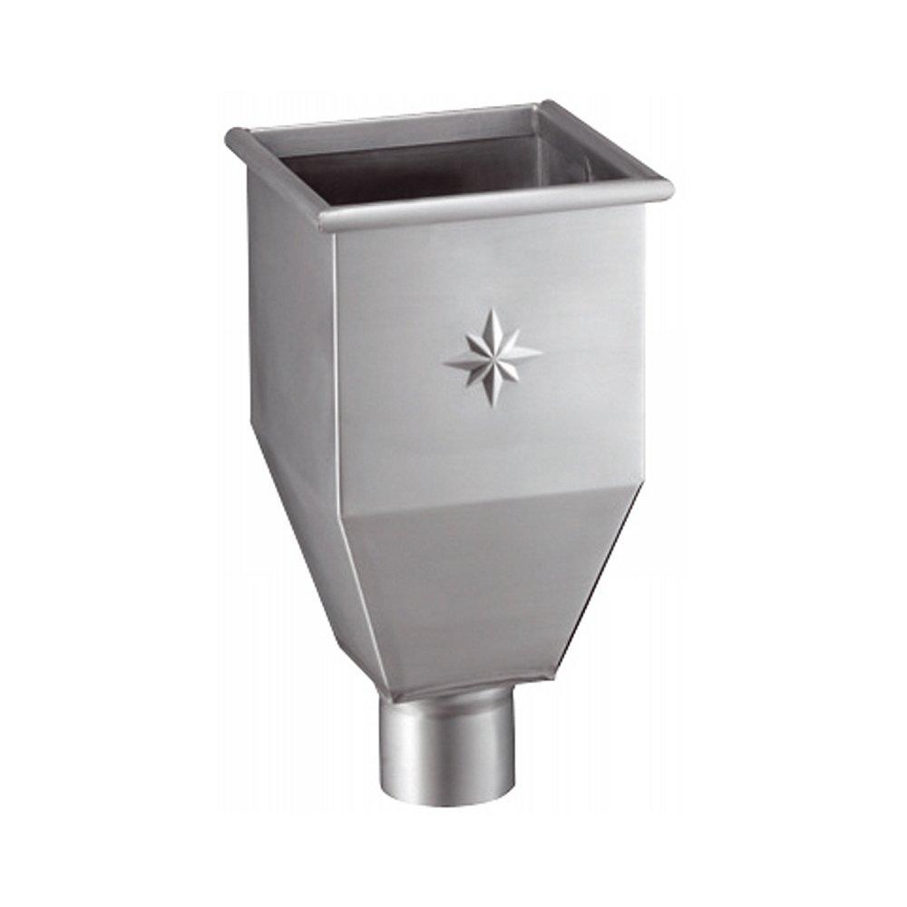 Gr/ömo Zink Wasserfangkasten lang f/ür Fallrohr DN 100