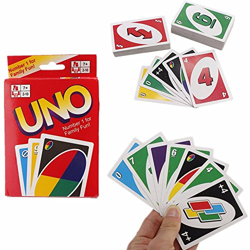 UNO 108 Fun Standard Playing Cards Game For Family Friend Travel Instruction - Pinball Catalog Parts