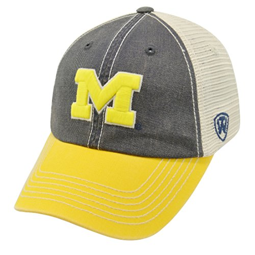- Top of the World Michigan Wolverines Men's Mesh-Back Hat Icon, Navy, Adjustable