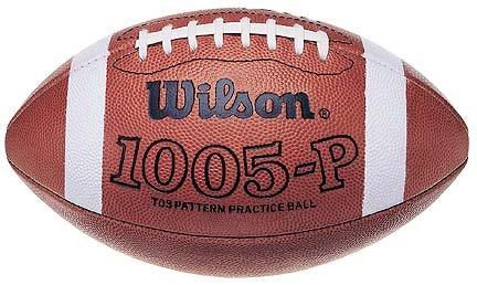 Wilson Pro Pattern Small Girth 1005P Practice Footballs - Case of 6