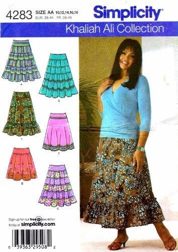Simplicity 4283 Womens Skirts Khaliah Ali Sewing Pattern Size 10