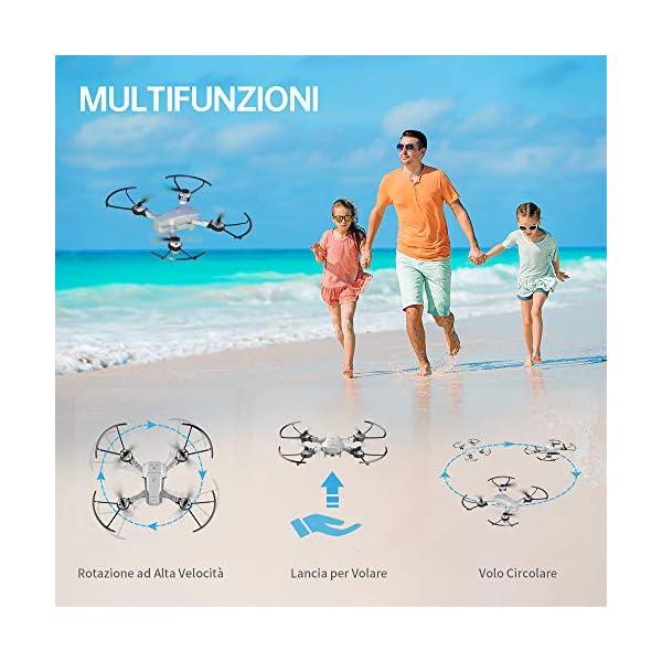 SNAPTAIN A10 720P Mini Drone con Telecamera HD Pieghevole FPV Controllo Vocale, Controllo Gesti, Volo Traiettoria, Volo Circolare, Rotazione ad Alta velocità, 3D Filp, Sensore G, modalità Senza Testa 7 spesavip