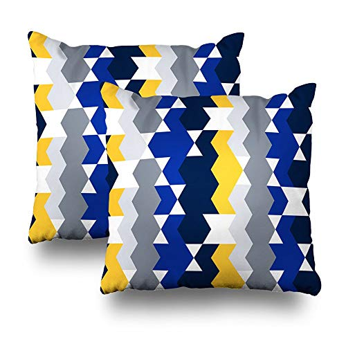 Decorativepillows Case Throw Pillows Covers for Couch/Bed 18 x 18 inch, Geo Hipster Backdrop Modern Trendy Geometric Abstract Site Blog Fabric Home Sofa Cushion Cover Pillowcase Gift